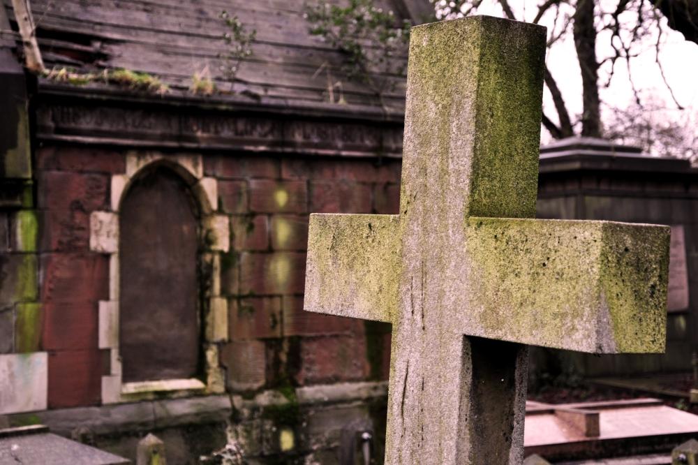 Sepia tinted Kensal Green Cemetery - January 2013