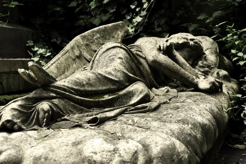 Sleeping Angel - Mary Nichols tomb in Highgate