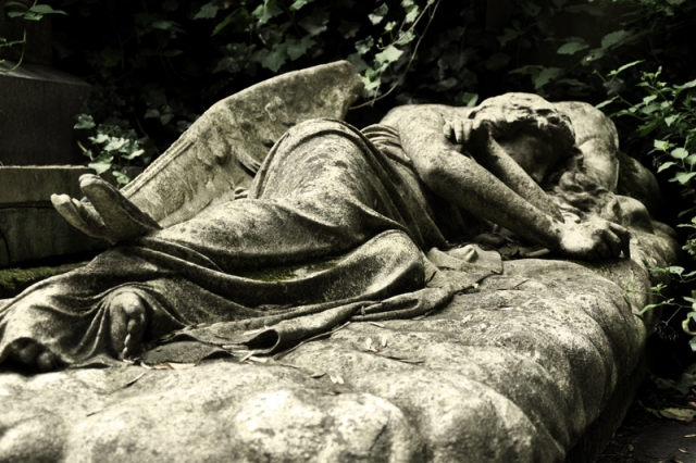 Sleeping Angel - Mary Nichols tomb in Highgate