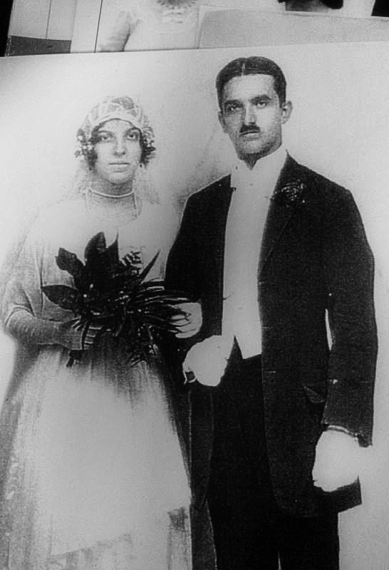 Blanche and Percy on their wedding day in 1919.