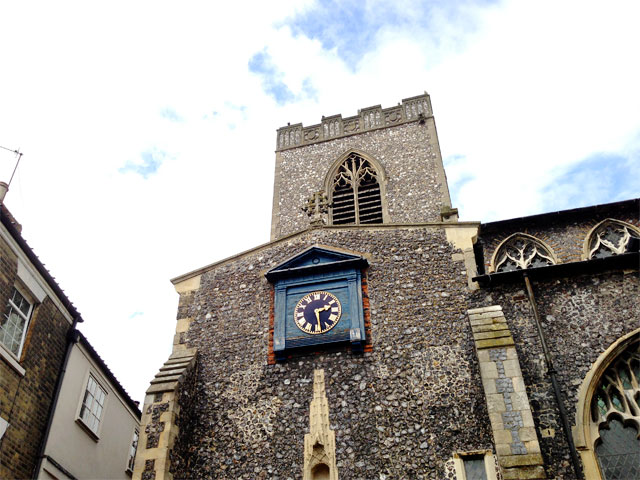St. Gregory's: it lost its Spire in the 1840's.