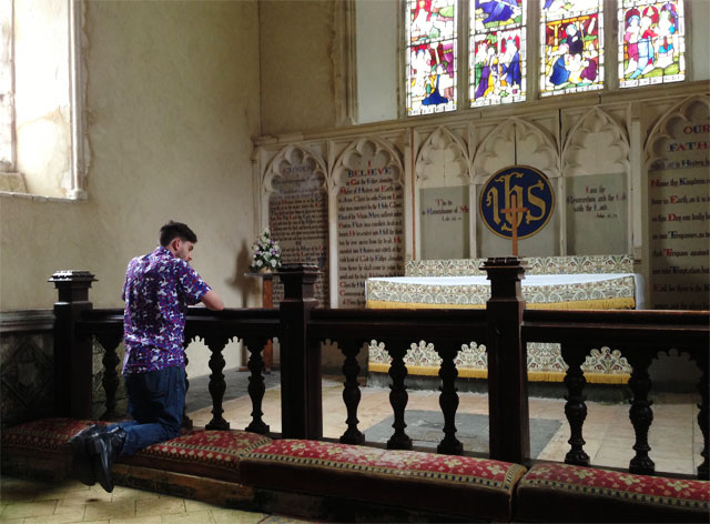 Me at the altar rail