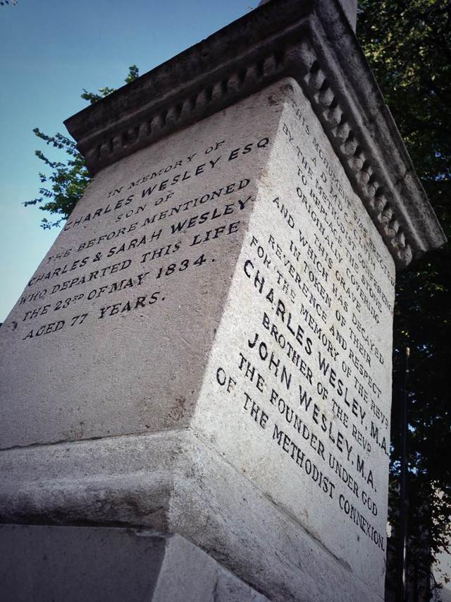 Wesley memorial, old Churchyard.