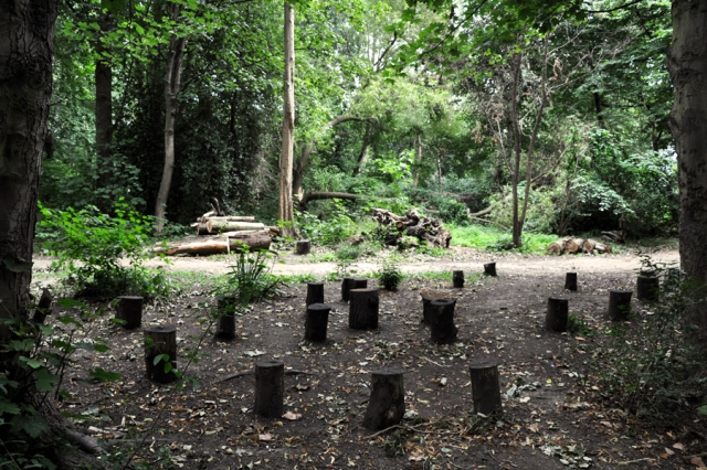 The outdoor classroom built by Citibank for the use of local schoolchildren.