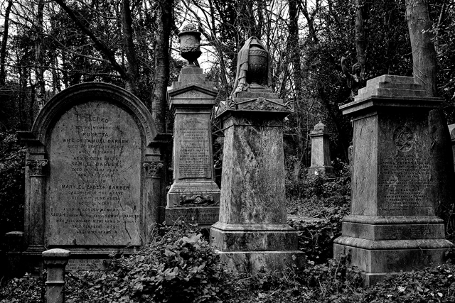 'I find it very hard not to process my cemetery shots in black and white, it just seems to fit. breaking 'the rules' here a bit, odd numbers are supposed to work better in photographs. I went for evens. rules are made to be broken :)'