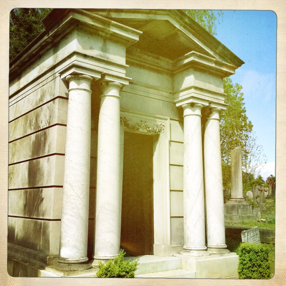 A Mausoleum in Christina's favourite Cemetery