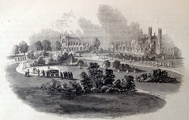 Illustration of a funerary procession in West Norwood