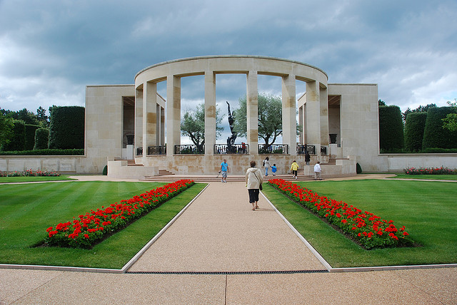 Memorial at American military cemetery in Normandy, France © Casper Moller 2013