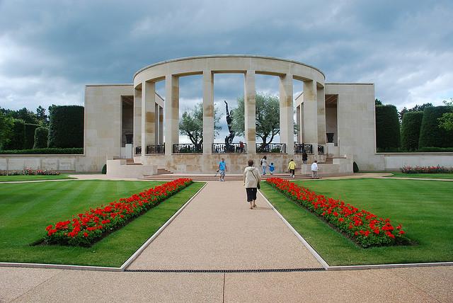 Memorial at American military cemetery in Normandy, France © Casper Moller 2013