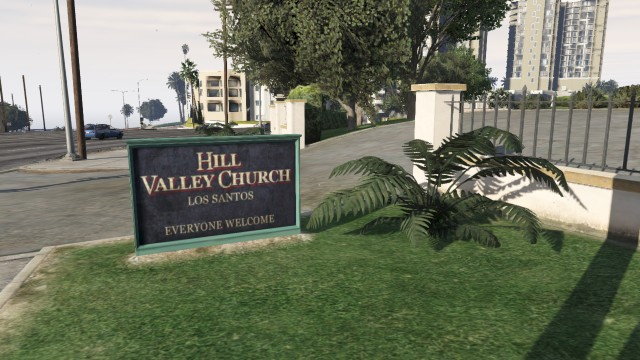 The entrance, located at Pacific Bluffs, north west Los Santos (repeat: not a real city)