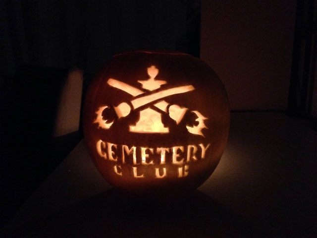 Cemetery Club Pumpkin