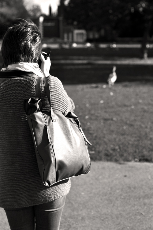 Photographing ducks was the main order of the day.