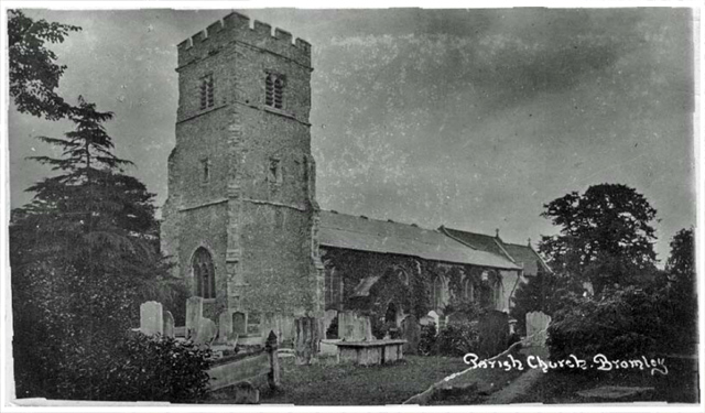 The Church in the late Victorian era - a couple of decades after his visit but more or less unchanged. Image© Bromley Borough Local History Society