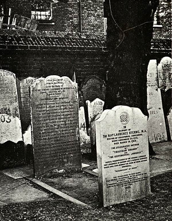 Tombstone of Laurence Sterne, St George's Hanover Sq, c.1910 © Bishopsgate Institute 2014