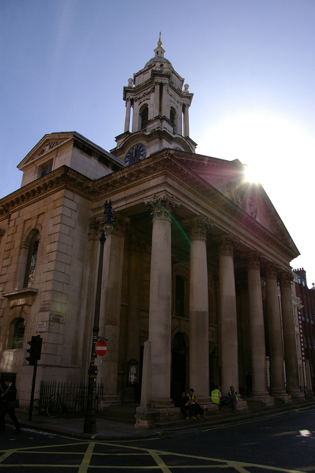 St. George's Hanover Square, which was created under the Commission for Building Fifty New Churches. Sterne would be buried in its Churchyard, hundreds of miles from his home Church.