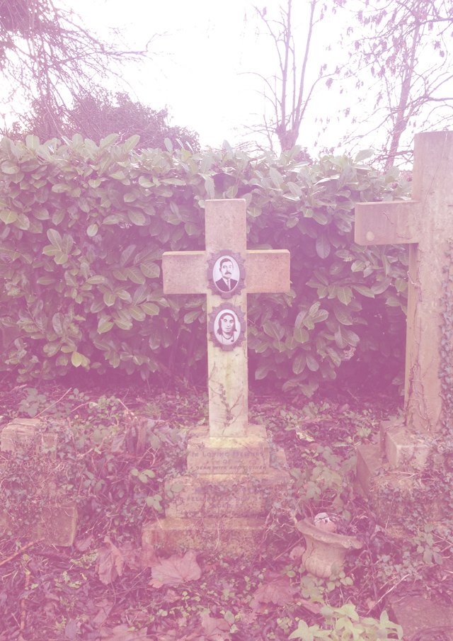 The grave of a couple gives a rare glimpse into what they looked like in life