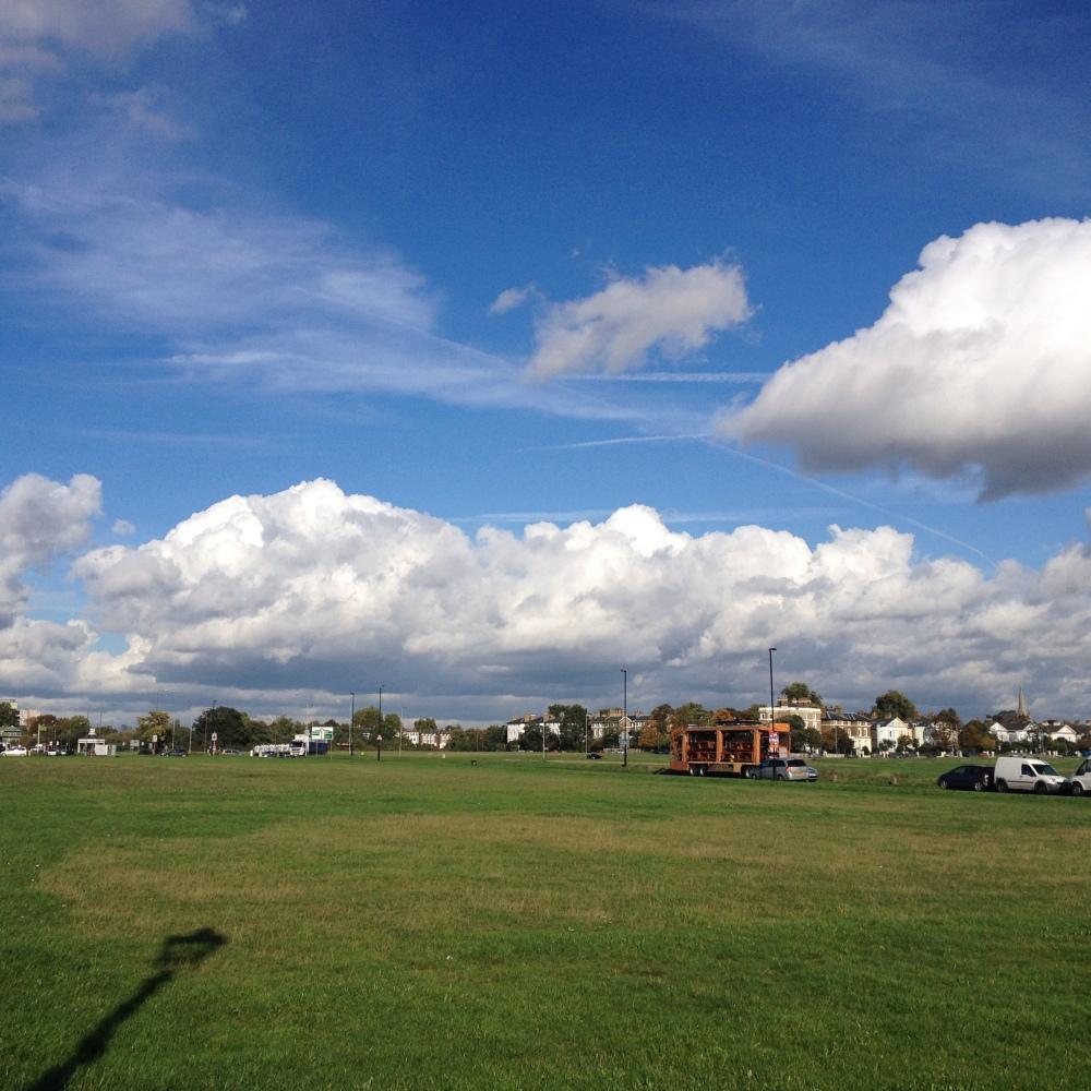 Cumulus clouds over Blackheath, October 2013