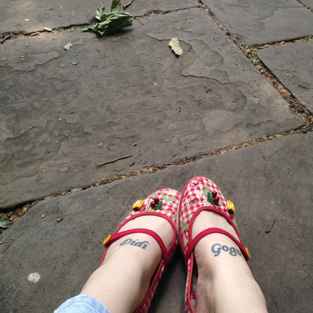 Strappy shoes at Bunhill Fields