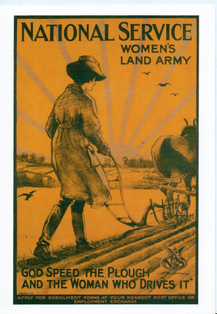 National Service - Women's Land Army by Henry George Gawthorn