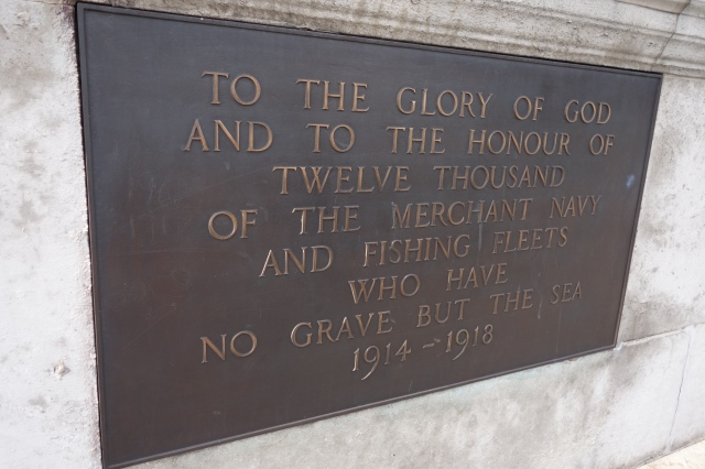 Merchant Navy Memorial Aug 2014