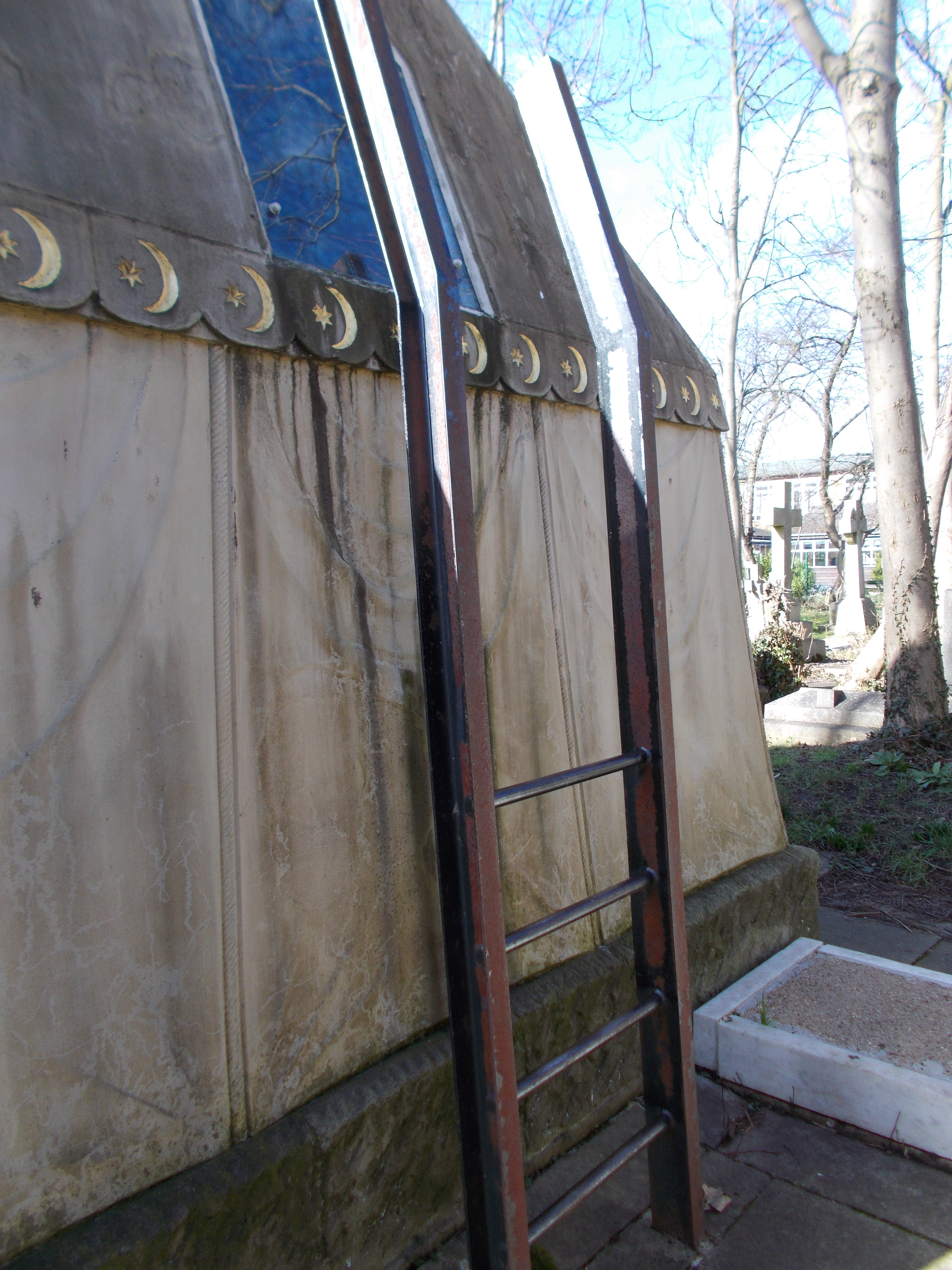 The Burton Mausoleum: an adventurer's tomb in a quiet suburb
