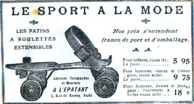 French advertisement for roller skates, 1908 (image via Wikimedia Commons)