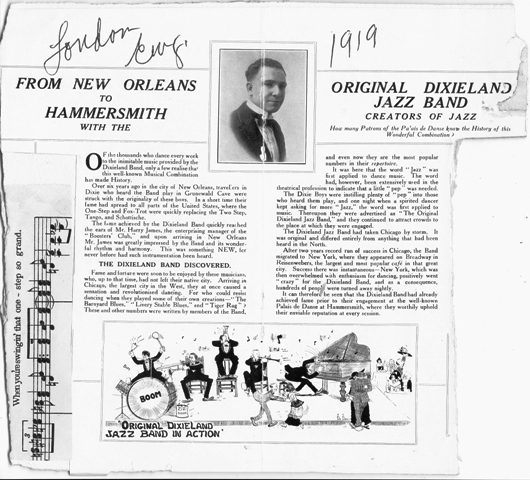 From New Orleans to Hammersmith with the Original Dixieland Jazz Band 1919