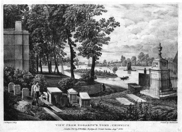 View from Hogarth's tomb in 1823 (source)