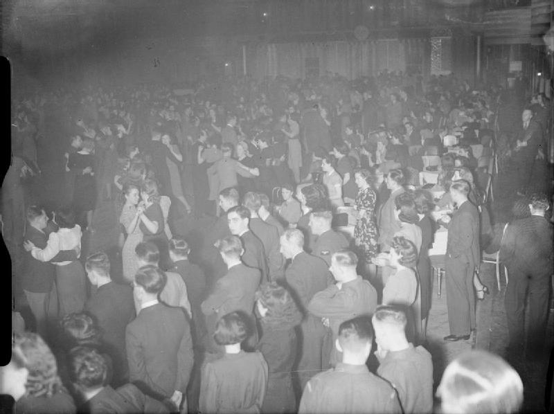 A dance event at the Hammersmith Palais, 1941 (image via Wikimedia Commons)
