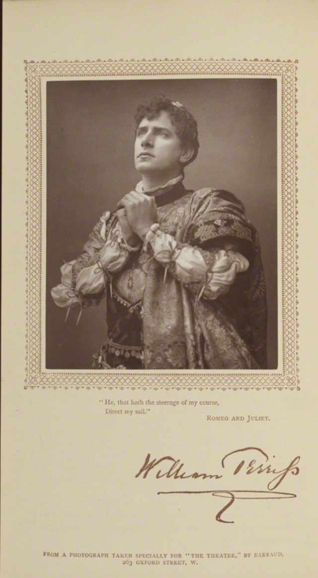 NPG Ax29197; William Terriss (William Charles James Lewin) as Romeo in 'Romeo & Juliet' by Herbert Rose Barraud, published by  David Bogue