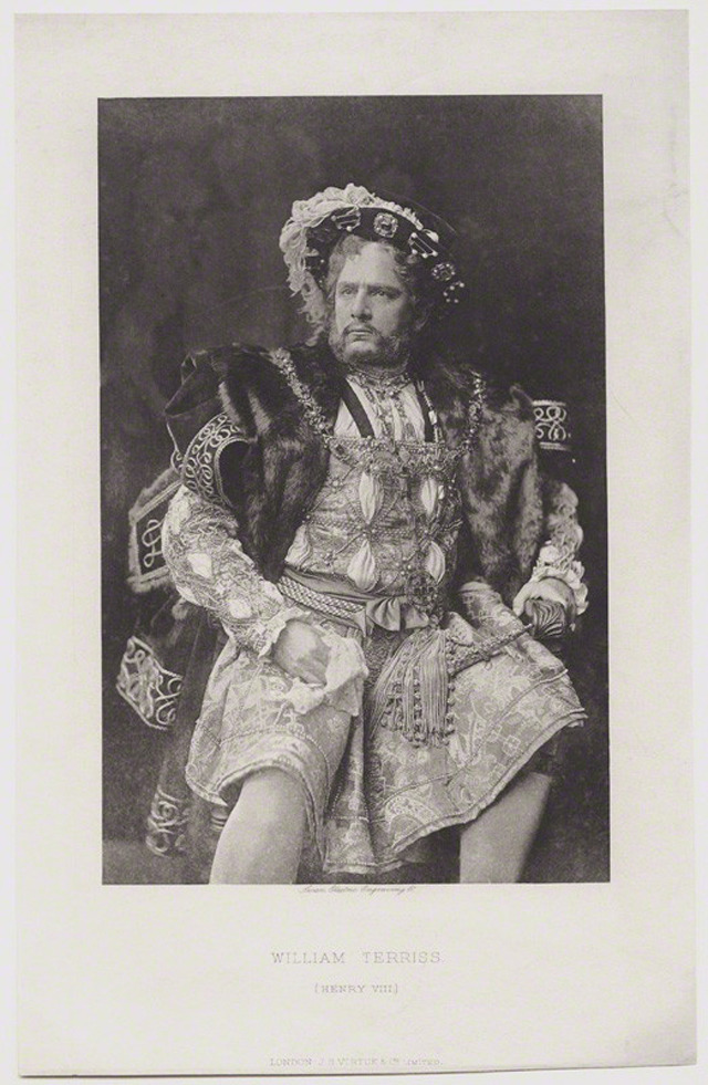 NPG x13223; William Terriss (William Charles James Lewin) as the King in 'Henry VIII' by Swan Electric Engraving Co, after  Unknown photographer