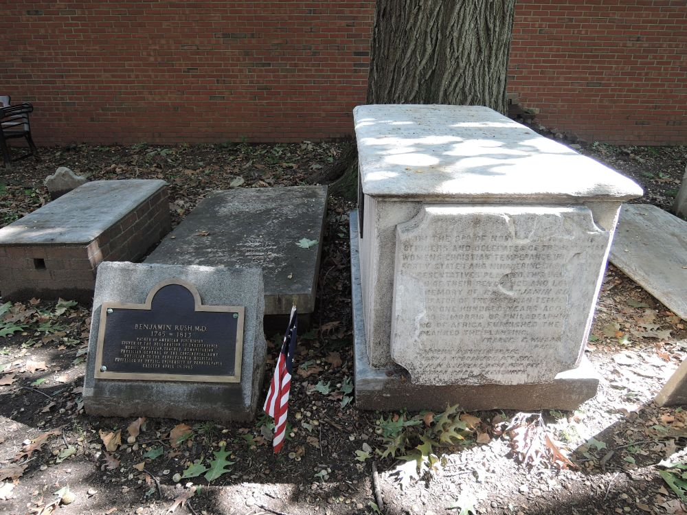 224 Benjamin Rush's Grave Christ Church Burial Ground.JPG