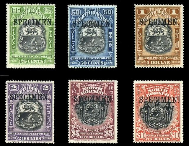 North_Borneo_1911_Specimen_Stamps