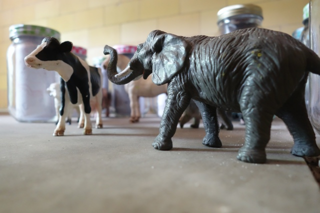 Animals in the mausoleum
