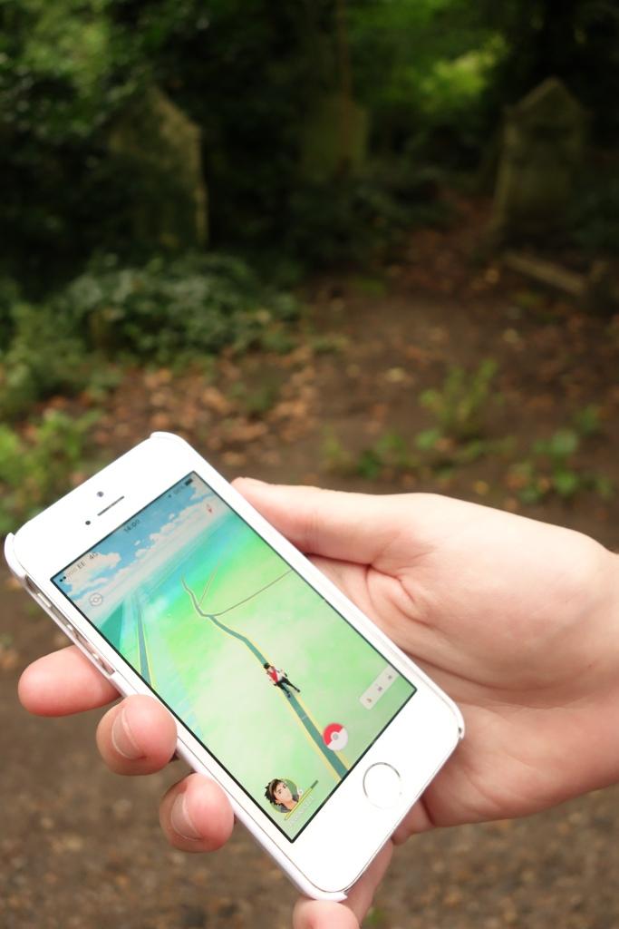 Pokémon Go at the Cemetery
