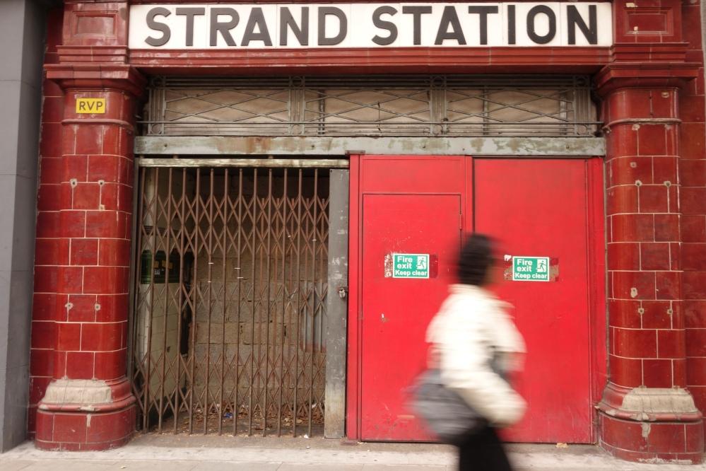 Aldwych Tube station, originally called Strand station.