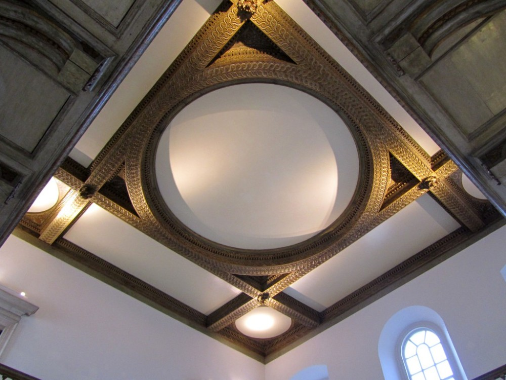 The ceiling of the great Hall, Queen's House, Greenwich